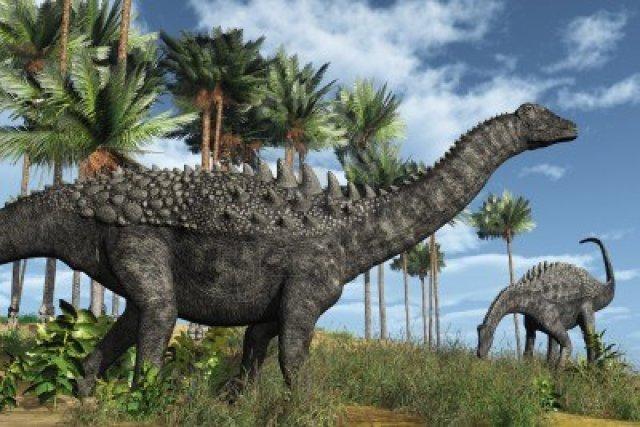 10854959-prehistoric-scene-with-ampelosaurus-dinosaurs--3d-render